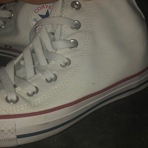 high top White converse